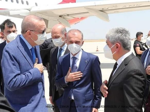 Erdoğan Havalaanında karşılandı...
