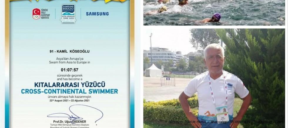Kıtalararası yüzen ilk Hataylı yüzücü...