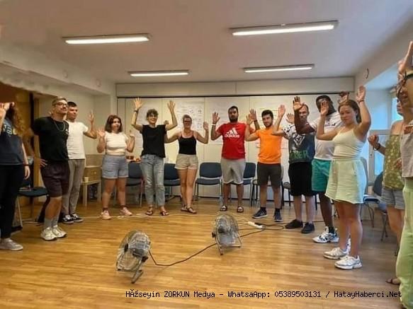 Polonya 'da drama eğitimi aldılar...